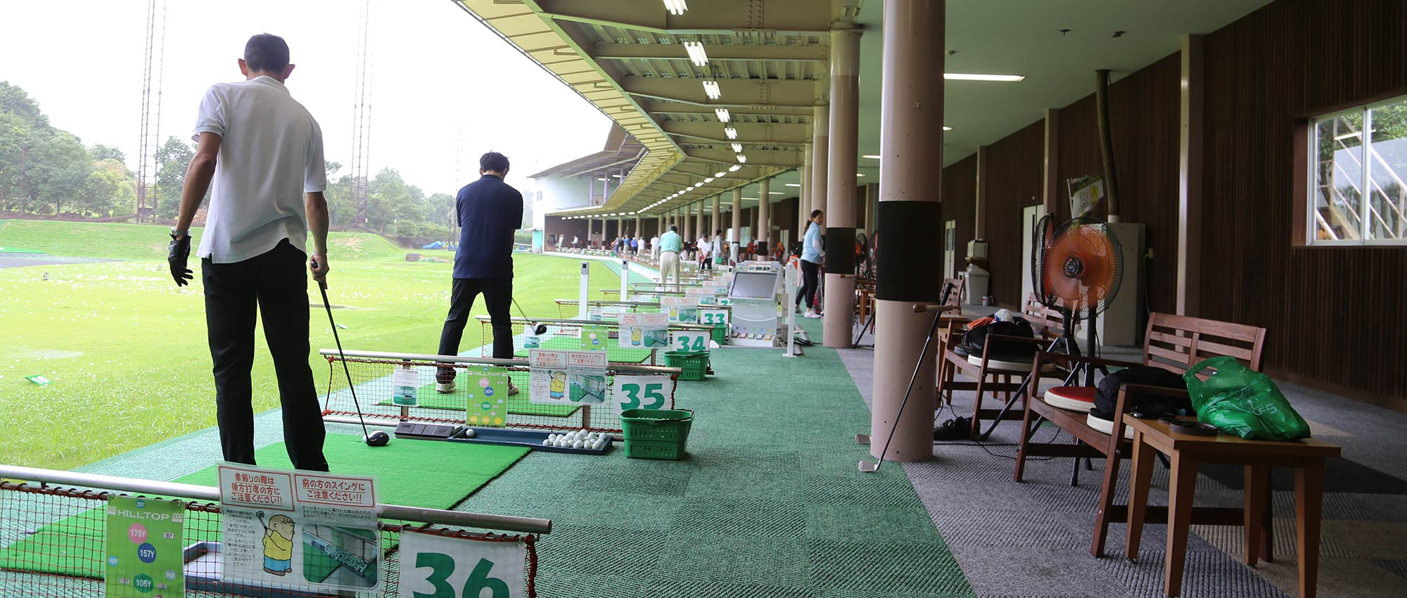 コロナ ゴルフ 練習 場